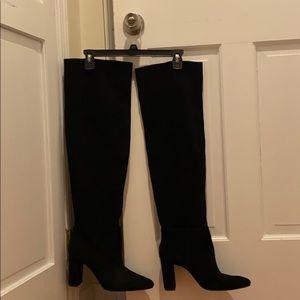 🔥ZARA Women Thigh High Black Suede Boot🔥